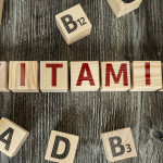 Wooden Blocks with the text: Vitamin